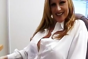 busty secretary lusts for dick in the office